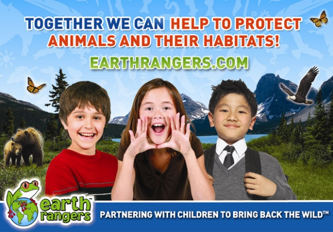 Earth Rangers Poster - Together we can help to protect animals and their habitats