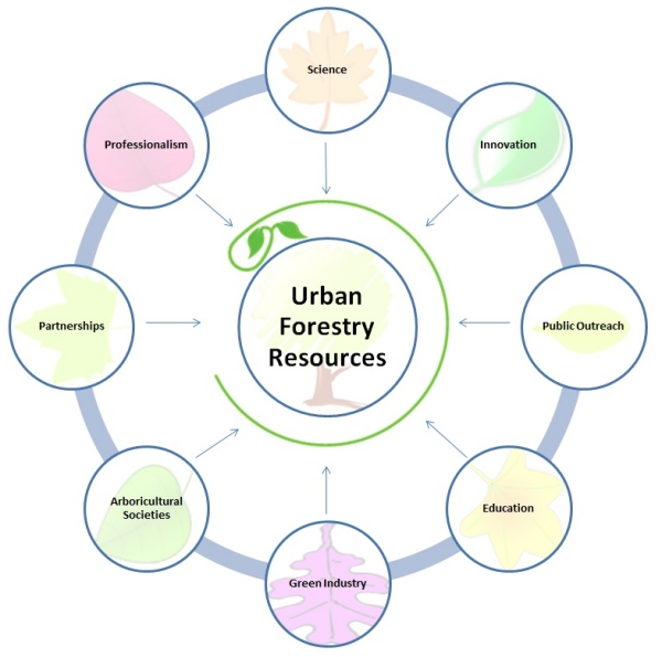 Urban Forestry Resources Diagram