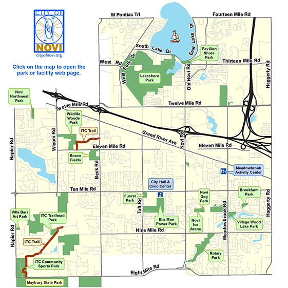 Recreation Facility Locations Map