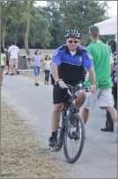 Police officer on bike