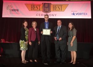 Parks and Recreation receiving award at conference