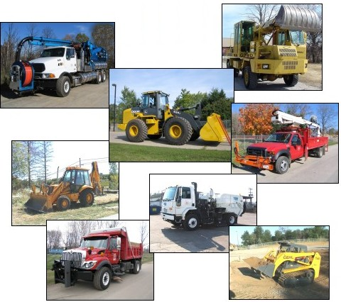 Collage of Public Services Vehicles