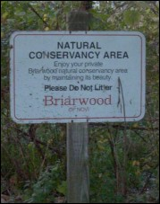Conservancy sign