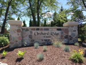 Orchard Ridge Estates Entrance sign