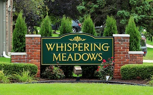 Whispering Meadows Sign