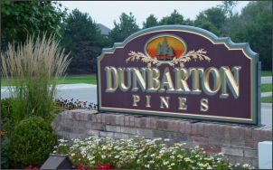 Dunbarton Pines sign