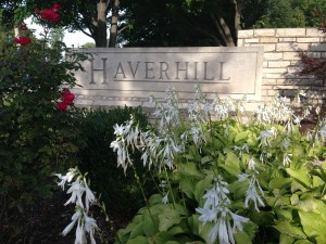 Haverhill Entryway sign