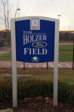 Tom Holzer Ford Field Sign